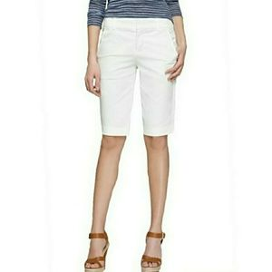 Vince Womens Sz 2 Side Buckle Bermuda Shorts